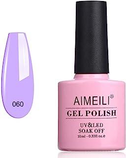 AIMEILI Soak Off UV LED Gel Nail Polish - Neon Lavender (060) 10ml