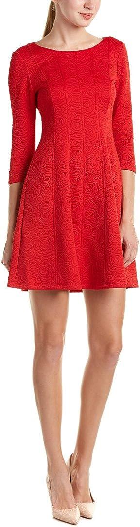 Taylor Dresses Women's Rose Novelty Jacquard