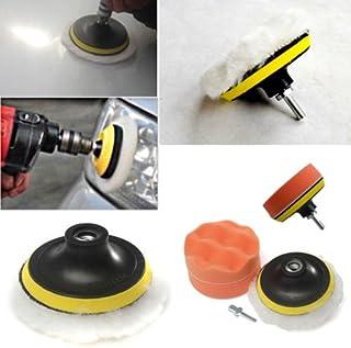 CXZX Kit de 6 peças de pastilha de polimento com almofada de suporte e adaptador de broca, ferramenta de polimento de carr...