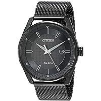 Citizen Men's Drive Japanese-Quartz Watch with Stainless-Steel Strap (Black)