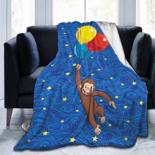 EVA GIBBONS Curious George Luxury Flannel Fleece Blanket Lightweight Super Soft Cozy Bed Blanket Sofa Blanket 50'' x40