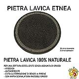 MY FRIEND SICILIA GRIGLIA in Pietra LAVICA ETNEA Tonda Diametro 35 CM con SCANALATURA - Ideale per...