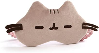 GUND Pusheen Cat Plush Stuffed Animal Sleep Mask, Gray, 8