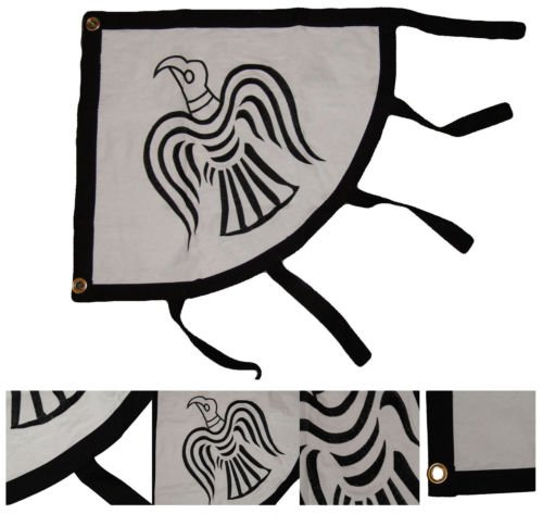 Moon 2x3 VIKING RAVEN FLAG SEWN & EMBROIDERED COTTON BANNER NORSE MYTHOLOGY SYMBOL - Vivid Color and UV Fade Resistant - Prime Outside Garden Home Decor