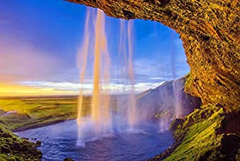 arts puzzles Jigsaw Puzzle Seljalandsfoss Waterfall Iceland Nature Scenery 1000-Pieces