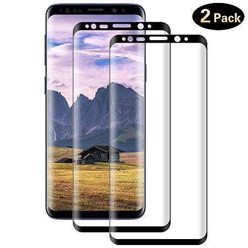DOSMUNG Cristal Templado para Samsung Galaxy S8 Plus, [2 Unidades] 3D Cobertura Completa Protector de Pantalla para Samsung Galaxy S8 Plus, 9H Dureza,Vidrio Templado, Anti-rasguños, Sin Burbujas