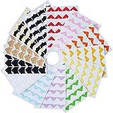 BOSSTER Foto Angolo Autoadesiva 312 Pezzi Multicolore Angoli per Montaggio Foto per DIY Scrapbook Album di Foto Diario Personale Latticini e Altro
