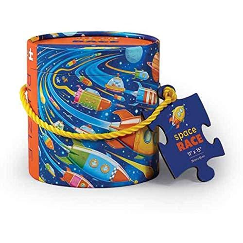 CROCODILE CREEK CC-3803240 - Mini puzle para llevar de 24 piezas la carrera del espacio (Juguete)