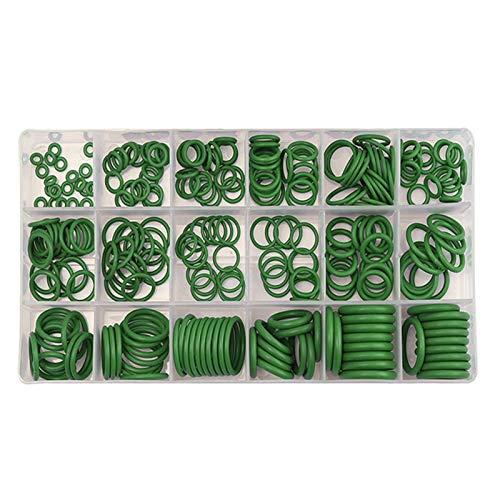 Suleve Suleve Surtido de arandelas de goma para aire acondicionado de buena calidad para R22 R134a Verde/Púrpura Piezas estándar Conjuntos de juntas tóricas de sello de 270 piezas (Color: Verde)