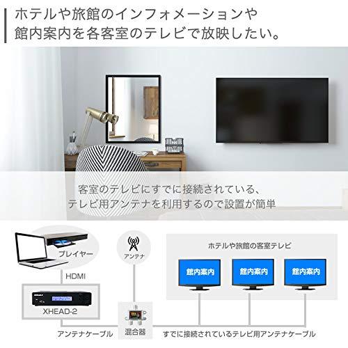『マイコンソフト 地デジ対応 OFDM変調器 混合器+HDMIケーブル付限定セット XHEAD-2 DP3913555 電波新聞社 アンテナ デジタル変調器』の3枚目の画像