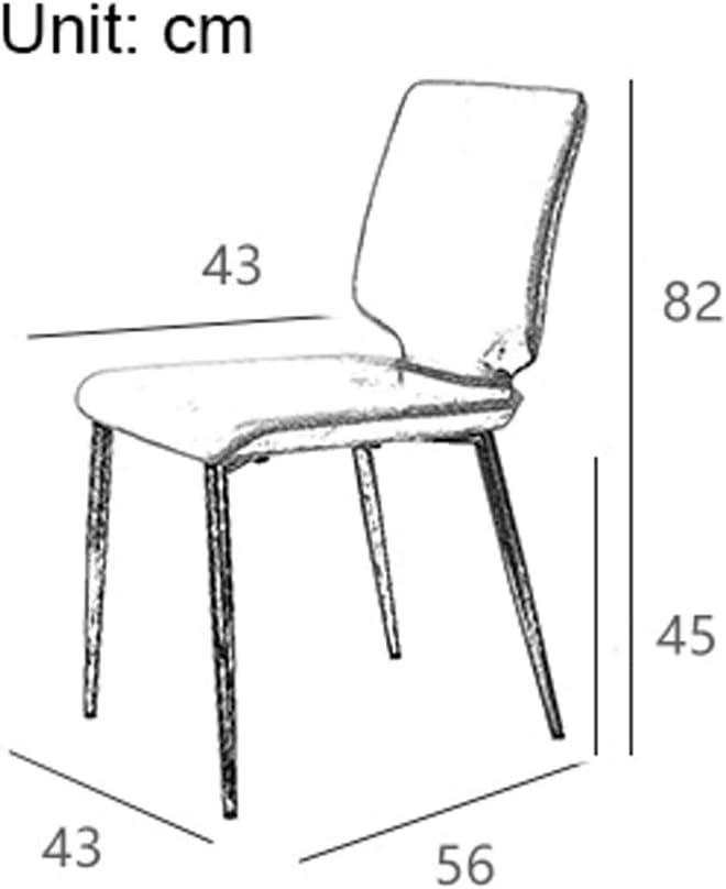 SLL- Chaise de Salle, Chaise de Bureau Simple, créative Dossier, Chaise Loisirs, Maison Adulte Chaise de Salle Moderne (Color : Dark Green) Black