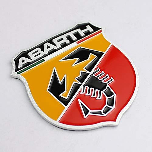 , 2 Stück, Motiv Logo Fiat Abarth Emblem Badge Metall Button Aufkleber, selbstklebend, Vinyl, offroad Racing