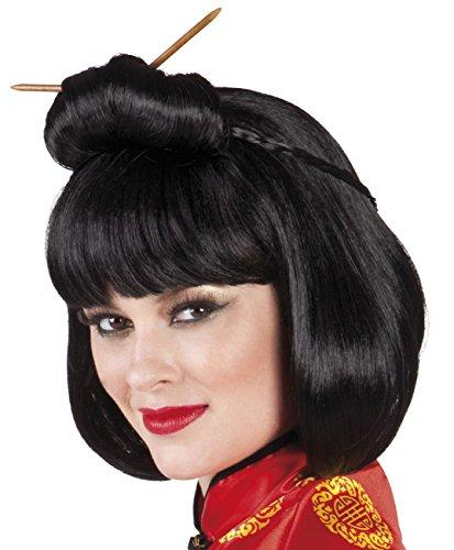 Boland 10103276 Perruque Chinoise Courtesan avec bâtons, Taille Unique