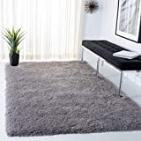 Safavieh Venice Shag Collection SG256S Handmade 3-inch Extra Thick Area Rug, 8' x 10', Silver