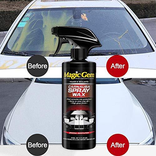 Car Wax - Automotive Nano Coating Solution Sigillo ceralacca per Auto Nuove Decontaminazione Curing Glazing Ceretta ad Alta densità Facile da Usare