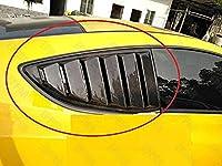 カーアクセサリー ヒュンダイジェネシスクーペのための2009-2013のための本物のカーボンファイバーCピラートライアングルカバーセット