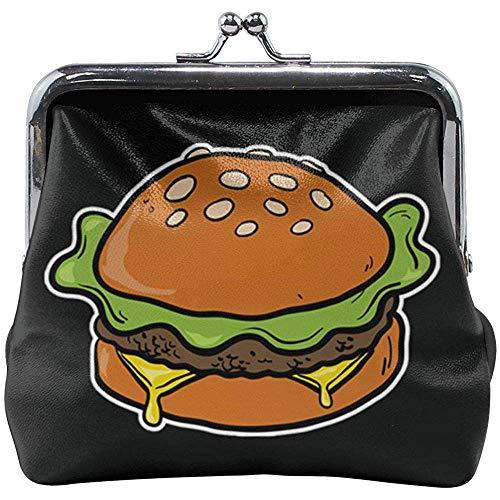 Kaas Burger Classic gesp munten portemonnees leer Kiss-Lock veranderen portemonnees