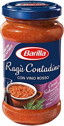 3x Barilla Ragù Contadino Pastasaucen tomatensauce mit Rotwein 400g aus italien
