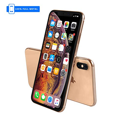 3. Generation [Vollmetall] Fake Dummy Display kompatibel mit Apple iPhone [Nicht funktionierend] 1:1 Scale Phone XS MAX 6,5 Zoll (Gold Menu Screen)