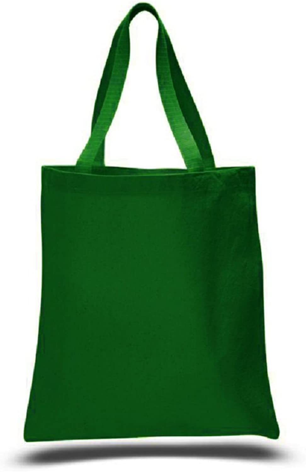(12 Pack) 1 Dozen  Heavy Cotton Canvas Tote Bags (Forest Green)