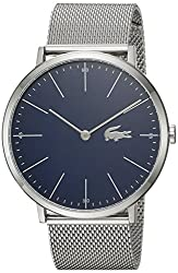 """""""Lacoste Mens Moon Quartz Watch with Stainless-Steel Strap, Silver, 20 (Model: 2010900)"""""""