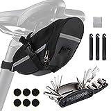 Wukong-Bolsa de sillín de Bicicleta con Herramientas de reparación 16 en 1 Kit de Herramientas de reparación de neumáticos de pinchazos de Bicicleta Multifuncional