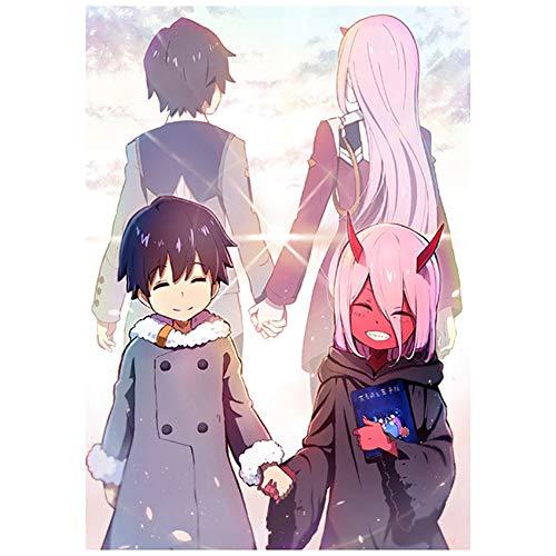 Chutoral DARLING in the FRANXX Anime-Poster Manga Wandkunst Bild Poster und Gemälde für Zimmerdekoration rose