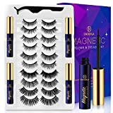 Magnetic Eyelashes with Eyeliner Kit 10 Pairs with Applicator,Magnetic Lashes and Liner Set,Reusable 3D Magnet False Eyelashes Magnetic Eye Lashes Pack for Women,Natural Easy Eyelash Glue Free.