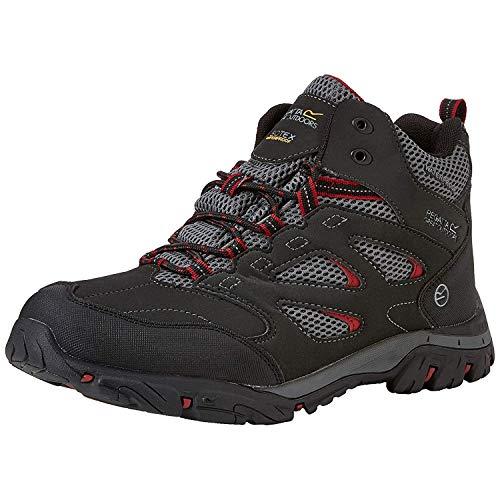 Regatta Holcombe Iep Mid High Rise vandringsskor för män, Röd - Röd Ash Riored 21n - 46 EU