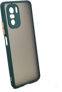 جراب حامل معدني مغناطيسي لهاتف Xiaomi Poco F3 & Mi 11i (أخضر)