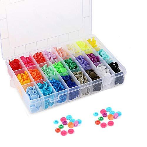 SUNTATOP Botones a Presión Broches de Resina Plástica T5, 24 colores