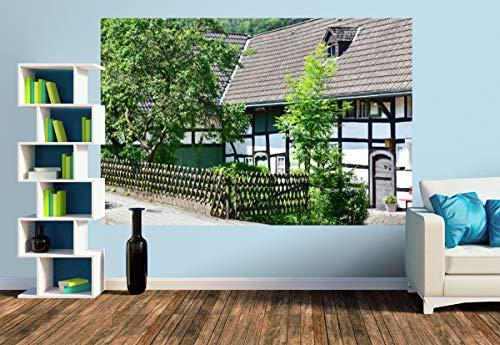 Premium Foto-Tapete Historisches Fachwerk in Einruhr in der Eifel (versch. Größen) (Size M | 279 x 186 cm) Design-Tapete, Wand-Tapete, Wand-Dekoration, Photo-Tapete, Markenqualität von ERFURT