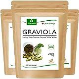 MoriVeda® - Graviola tabletas 360 x 2000mg extracto de fruta 4:1 vegano, producto de calidad (3x120 Tabs)