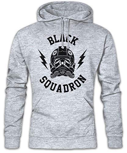 Urban Backwoods Black Squadron Vintage I Hoodie Sweats à Capuche Sweat-Shirt De Manga Gris Taille L