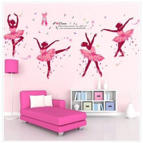 Wall sticker adesivo parete Balletto ballerina ballerine scuola danza classica
