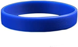 Komonee Bleu foncé uni Silicone Silicone Serre-Poignets (Pack de 1)