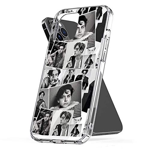 Phone Case Cole Sprouse Collage B&W Compatible with iPhone 6 6s 7 8 X XS XR 11 Pro Max SE 2020 Samsung Galaxy Anti Absorption Funny