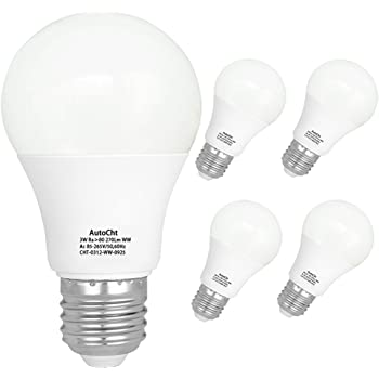 6 Pack Warm White 2700K LED Energy Saving Light Bulbs E26 Medium Screw Base LED Lights for Home Refrigerator Light Bulb Light Bulbs LED 3W MINGER 25 Watt Equivalent