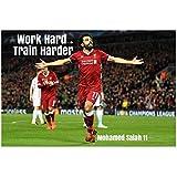 SYLZBHD Póster de Mohamed Salah Liverpool, póster de Seda, decoración de Pared, Pintura de habitación, Cuadros, Impresiones en Lienzo, Arte de Pared, impresión en lienzo-50x70cm sin Marco