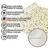 ANRO Tischdecke Wachstuch abwaschbar Wachstuchtischdecke Wachstischdecke Kinder Geburtstag Tiere Hellgrün 100x140cm - 3