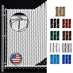 top rated Wavy bar for chain link fence (4 ft white) 2021