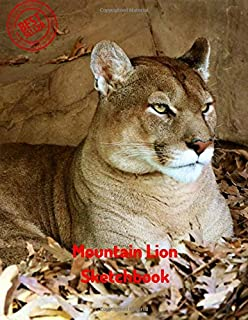 Mountain Lion Sketchbook: Blank Paper for Drawing, Doodling or Sketching 120 Large Blank Pages (8.5