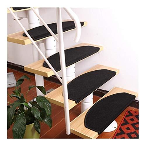 Stufenmatten für Treppenstufen, 14 Stück, selbstklebende Stufenmatten, rechteckig, rutschfest, Stufenmatten Pads Teppich wiederholt verwendbar (Farbe: Schwarz, Größe: 65 x 24 MagicBuckle)