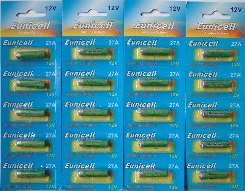 Eunicell Lot de 20 piles alcalines 12 V 27 A [Appareils électroniques]