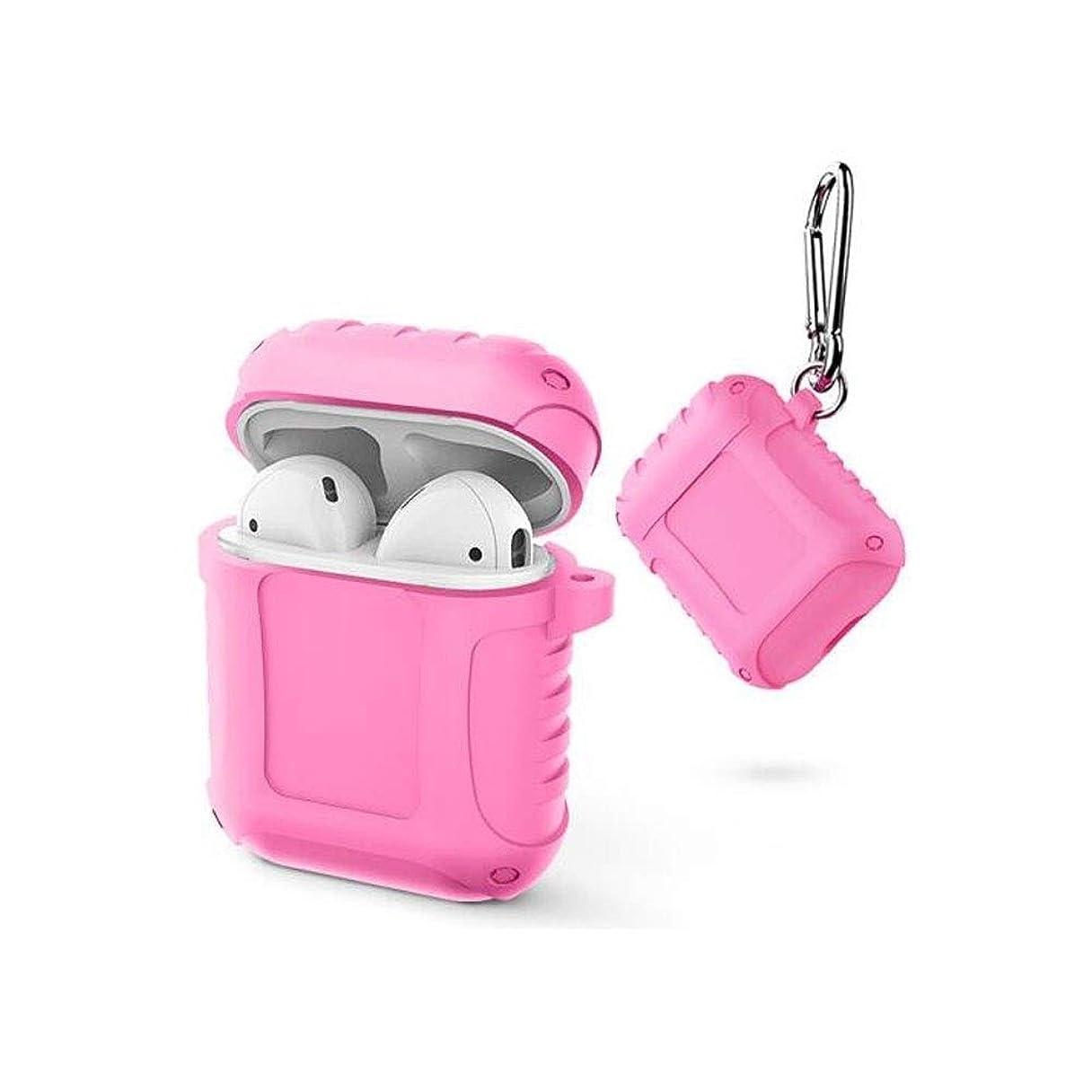 ナース保育園鳥NTSM Airpodsヘッドセットセット、シリコンワイヤレスBluetoothヘッドセットストレージボックス、トレンディなスタイル、マルチカラーオプション (Color : Pink)