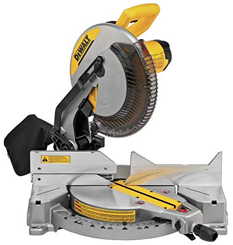 DEWALT 12-Inch Miter Saw, 15-Amp, Single Bevel, Compound...
