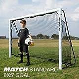 QUICKPLAY But + rebondisseur de Football 2 en 1 | S'utilise Soit comme Un Goal de 240 × 150 cm (à l'avant), Soit comme Un rebondisseur de Ballon (à l'arrière)