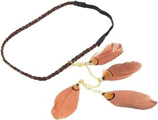 birdsound diadema de plumas de Boho Hippie Weave cinta para el pelo accesorio para el pelo para mujer