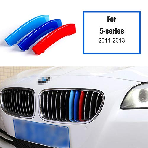 JNSMQC 3 stuks 3D Car Grille Trim Strips Cover Motorsport Stickers. Voor BMW F30 F10 3 5-serie M Power Performance-accessoires Grille