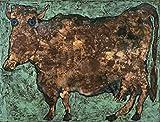 Jean Dubuffet The Cow with the Subtile Nose c12231 A4 Canvas - Estirado, listo para colgar (12/8 inch)(31/20 cm) - Película Película Decoración de pared Arte Actor Actriz Regalo Anime Auto Cinema Ro